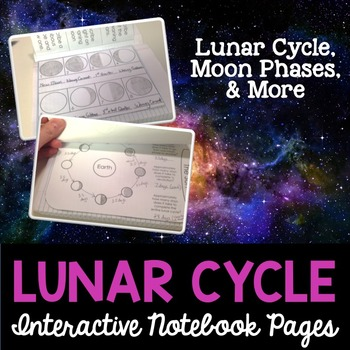 Moon Phases Interactive Notebook Pages