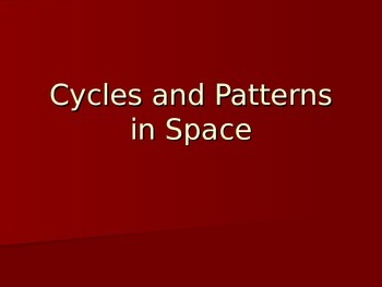 Moon Phases and Patterns in Space