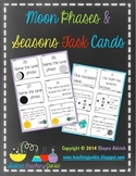 Moon Phases and Seasons Task Cards (Google Classroom compatible)