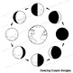 Lunar Cycle: Phases of the Moon Clip Art