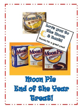 Moon Pie End of the Year Treat Tag