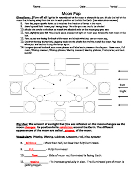 Moon Pops Moon Phases lab