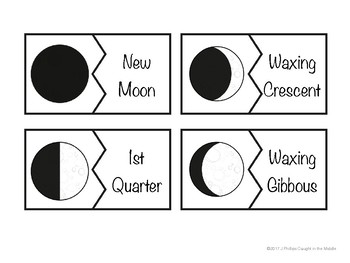 Moon Puzzle Cards