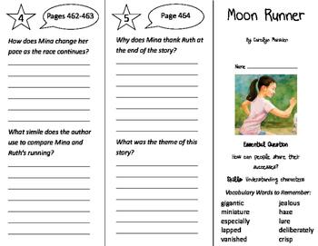 Moon Runner Trifold - Journeys 4th Grade Unit 4 Week 3