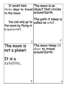 Moon Scavenger Hunt and Cloze Activity