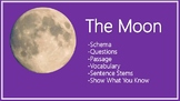 Moon Schema, Questions, Vocabulary, and Sentence Stems