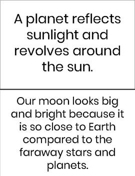Moon Task Card Activity