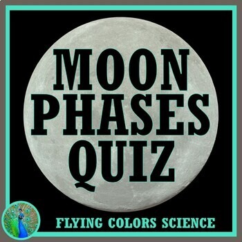 Middle School Moon Quiz or Test Assessment NGSS MS-ESS1-1 MS-ESS1-2