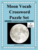 Moon Vocabulary Crossword Puzzle Set