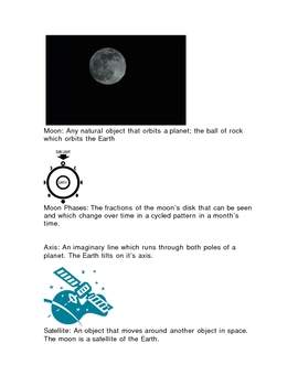 Moon vocabulary