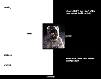 Moon Vocabulary Activity- NOTEBOOK- Ask an Astronaut