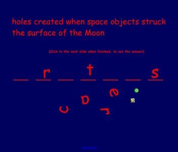 Moon Vocabulary Activity- NOTEBOOK- Drag & Spin