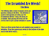 Moon Vocabulary Activity- NOTEBOOK- The Scrambled are Words!