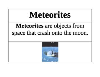 Moon Vocabulary Cards