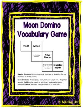 Moon Vocabulary Domino Game