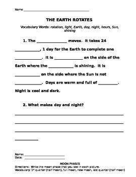 Moon and Earth Study