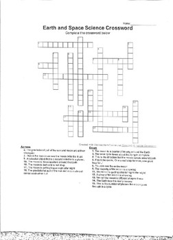 Moon and Tides Crossword