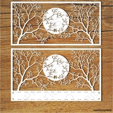 Moon and Trees SVG files for Silhouette Cameo and Cricut.