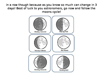 Moon phase homework