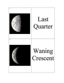 Moon phase matching game