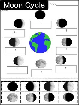 Moon phases cut and paste. by SpEduKaten | Teachers Pay ...