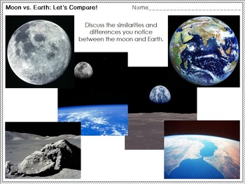 Moon and Earth Comparison