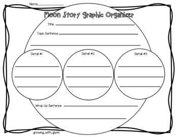 Moon writing graphic organizer and final writing paper (A writing activity)