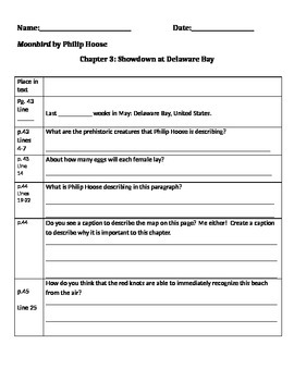 Moonbird Chapter 3 Close Reading Packet