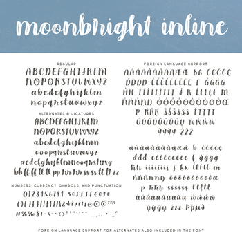 Moonbright Font Family for Commercial Use