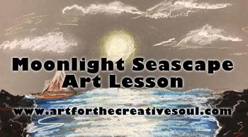 Moonlight Seascape Art Lesson