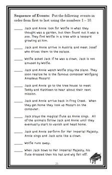 Moonlight on the Magic Flute : Magic Tree House #41 Novel Study / Comprehension