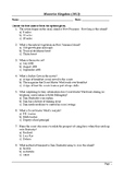 Moonrise Kingdom - MCQ / Final Assessment / Viewing Questions
