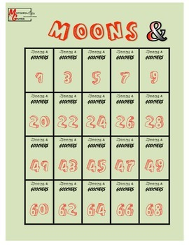 Moons & Goochers 3 - BIG BOARD Dice Game to Add, Subtract, Multiply & Divide