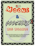 Moons & Goochers 3 - BIG BOARD Dice Game to Add, Subtract,