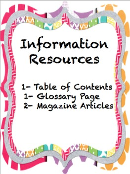 Moons Information Resources 2-Table of Contents, Glossary, Magazine Article