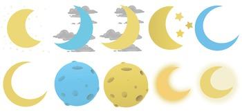 Choose Your Moon Digital Clip Art