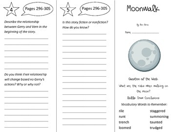 Moonwalk Trifold - Reading Street 4th Grade Unit 5 Week 5
