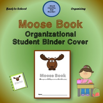 Free Moose Binder Cover for organizing students