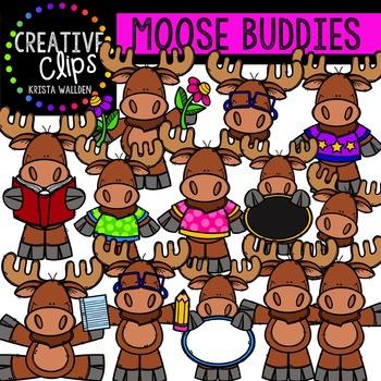 Moose Buddies {Creative Clips Digital Clipart}