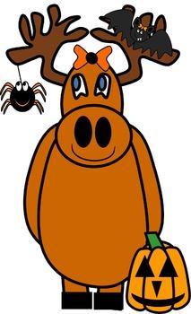 Moose Clip Art (Halloween)