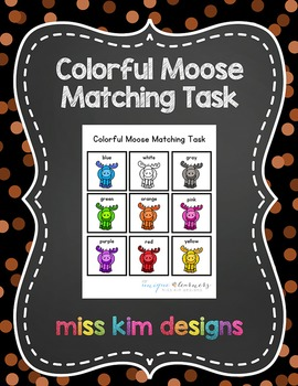 Moose Color Matching Folder Game for Early Childhood Speci