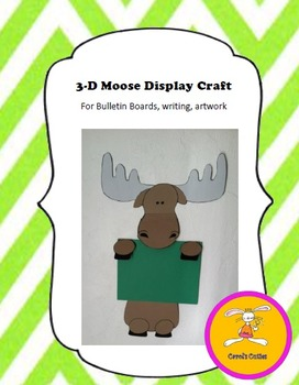 Moose Craft - for Writing, Bulletin Boards,or Art