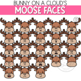 Moose Faces Clipart by Bunny On A Cloud