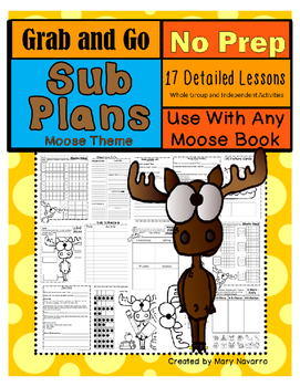 Moose Grab&Go NO PREP Sub Plans
