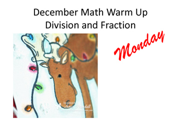 Moose Lights Math Warm Ups Division and Fractions