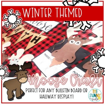 Moose Math Strategy Winter Bulletin Board Craftivity