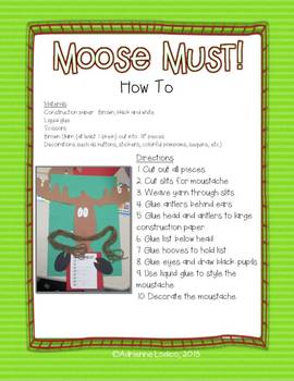 Moose Must!  A Christmas Craft and Writing Project based on Mooseltoe