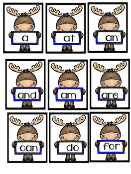 Moose Sight Words for K