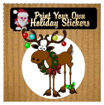 Moose Stickers Print Your Own
