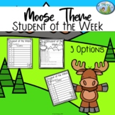 Moose Theme Student of the Week Form